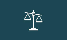 Pictogramme balance justice